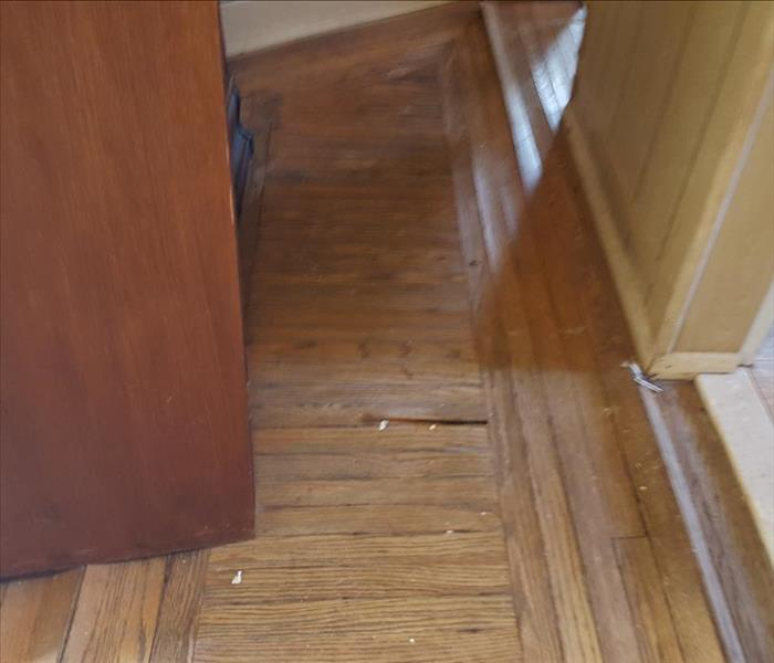 hardwood floor bowing and buckling from water damage