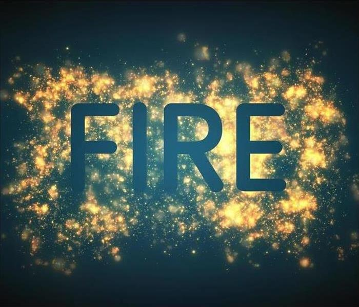 Fire lettering with background effects