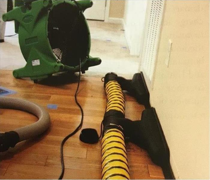 SERVPRO equipment in a residential property.